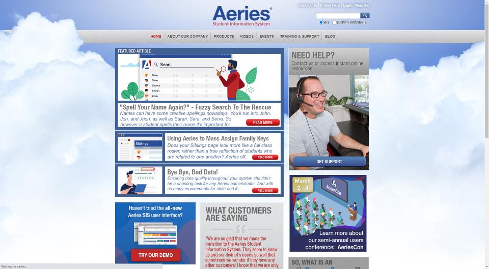 Old aeries.com