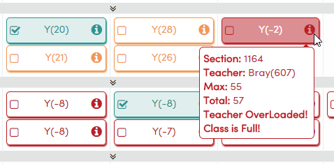 Student Classes page gets a new look